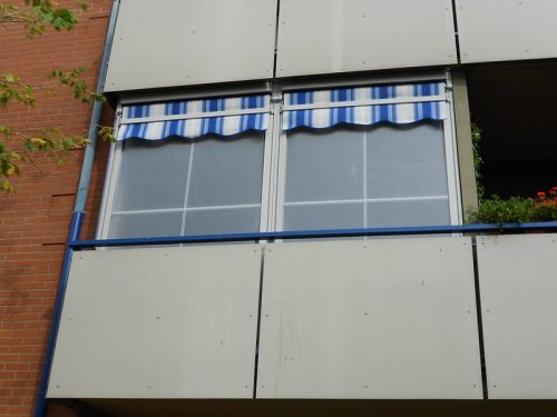 Tenda veranda senza bracci