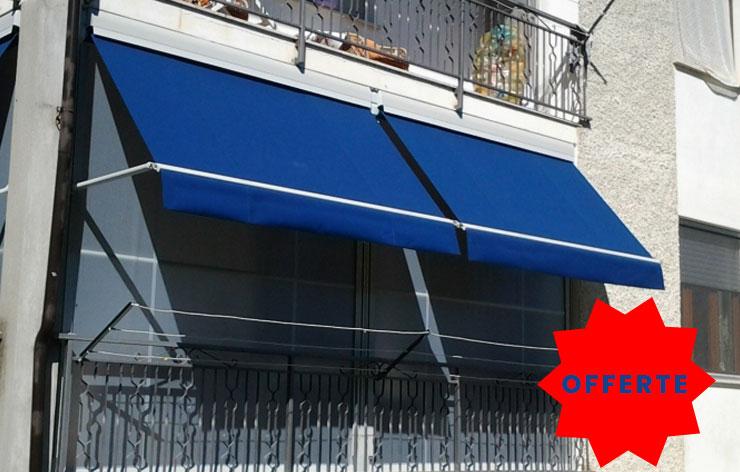 Esposizione di tende da sole e tende veranda in offerta a Torino
