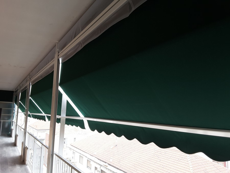 Tenda veranda con frangivento 14