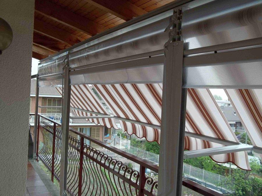 Tenda veranda e travi di legno 07