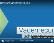 Sintesi vademecum schermature solari in video