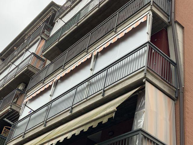 Tende veranda Torino vista esterna