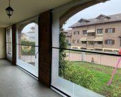 Chiusura portico a Volpiano con tende veranda vista da dentro