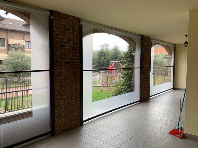 Tende invernali per portico vista interna
